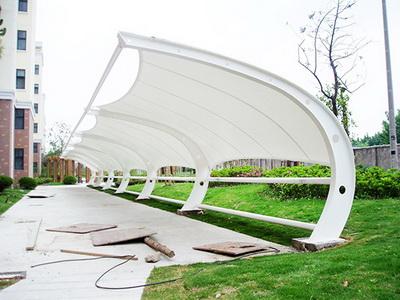 合肥市合作化路中学膜结构停车棚