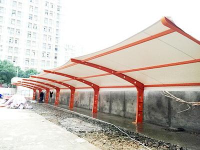 华能长兴电厂厂内膜结构车棚光伏PC项目