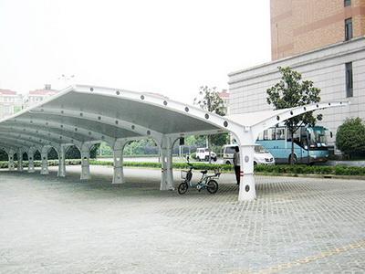 浙江杭州星野花苑北区、光明小区修建电动自行车膜结构停车棚工程