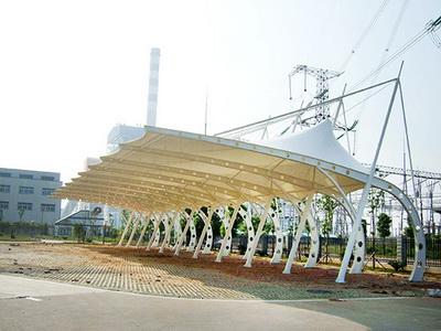 北京北汽越野车膜结构车棚改定向项目