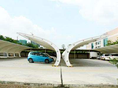 山东省银河伟业物业管理有限责任公司腊山苑膜结构车棚