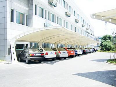 安乡县公务用车管理中心膜结构车棚遮阳工程