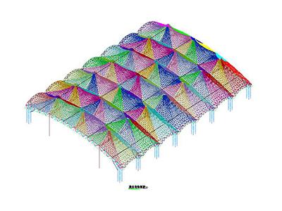 广场膜结构设计CAD图纸