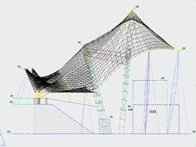 膜结构舞台设计CAD图纸