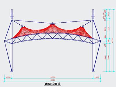 出入口膜结构设计CAD图纸