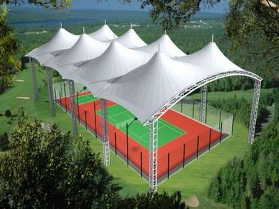 包头师范学院网球场膜结构