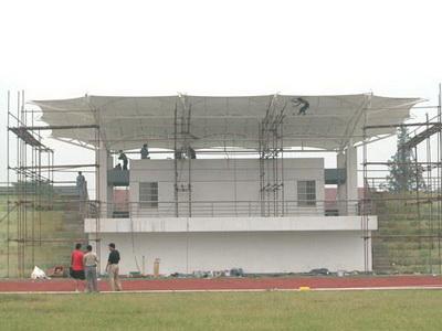 江苏省马坝高级中学城区分校体育看台膜结构工程