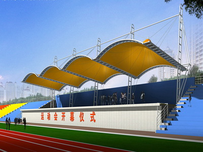武汉东湖学院体育看台膜结构