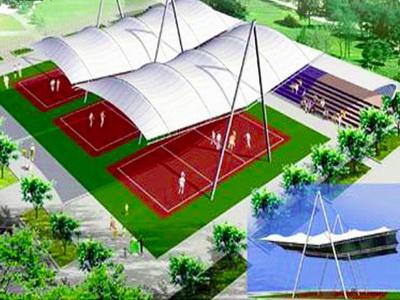 浙江国际影视中心网球场膜结构