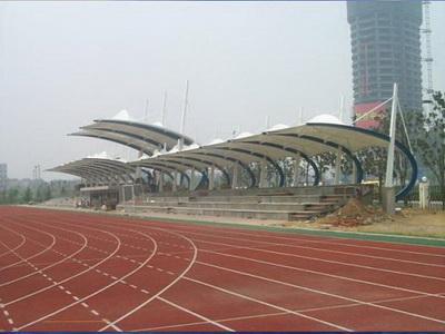 临沂市河东区益民实验中学体育看台膜结构