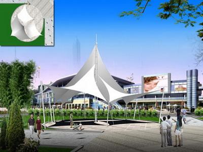 威宁·邻家龙岗北广场项目景观膜结构