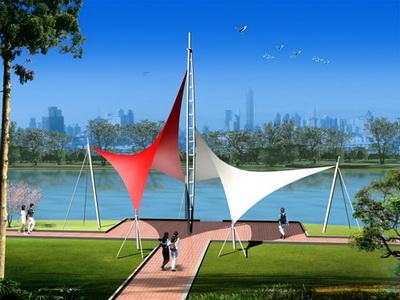 金湖县起点公园人行景观膜结构