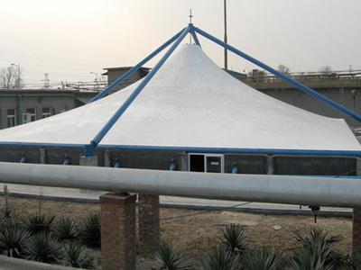 河北旭阳工程部污水池膜结构